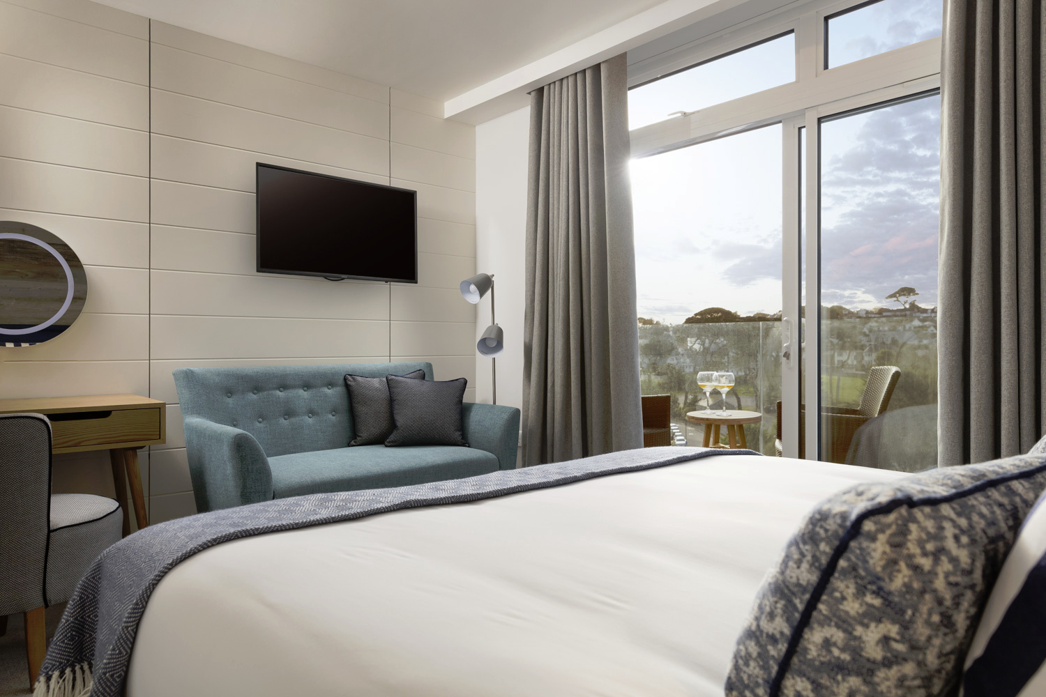 Enjoy floor to ceiling windows in our Beach House Room with Terrace/Balcony...